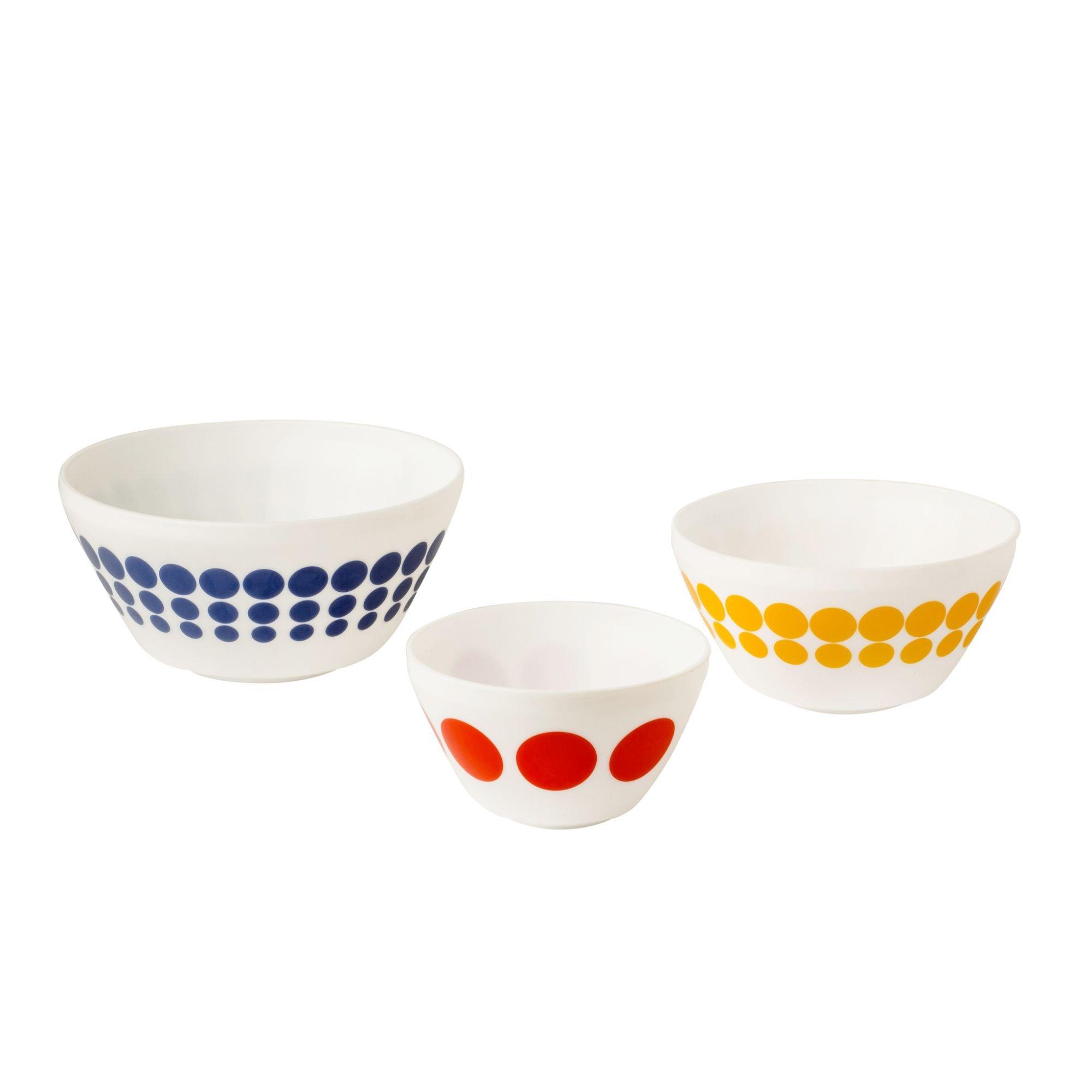 Pyrex 1125471 Vintage Charm Spot-On 3 Piece Mixing Bowl Set, Multicolor