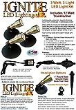 Anjon Manufacturing AB3KLED Brass LED Spot Light Kit - 3 x 3 Watt Units