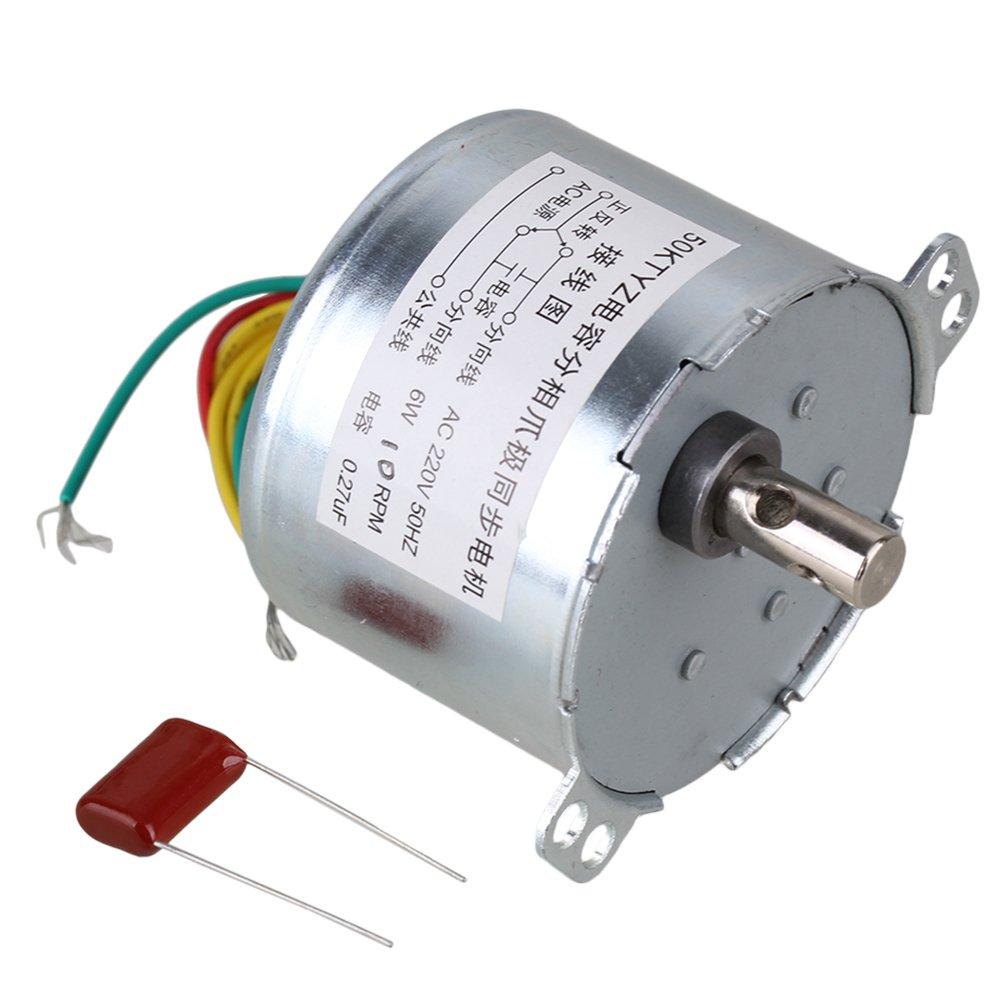 BQLZRN00793 argent BQLZR Moteur /électrique synchrone Gear Argent 50/Ktyz AC 220/6/W 50/HZ Aimant Permanent Vid/éoprojecteur moteurs