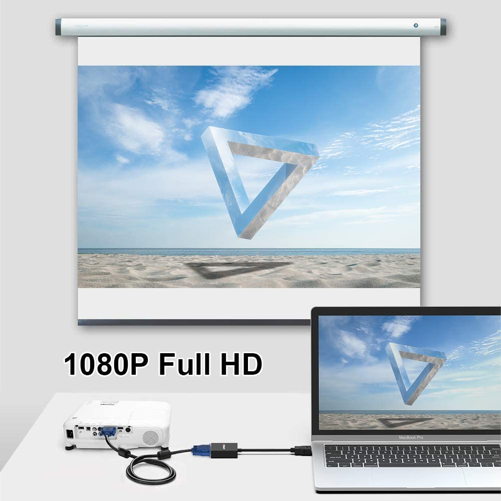 PC Monitor Projector Laptop UPGROW HDMI to VGA Adapter HDMI Male to VGA Female Converter Support Computer Xbox and More Desktop Chromebook HDTV