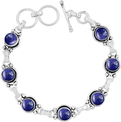 Fine Silver Labradorite Link Bracelet