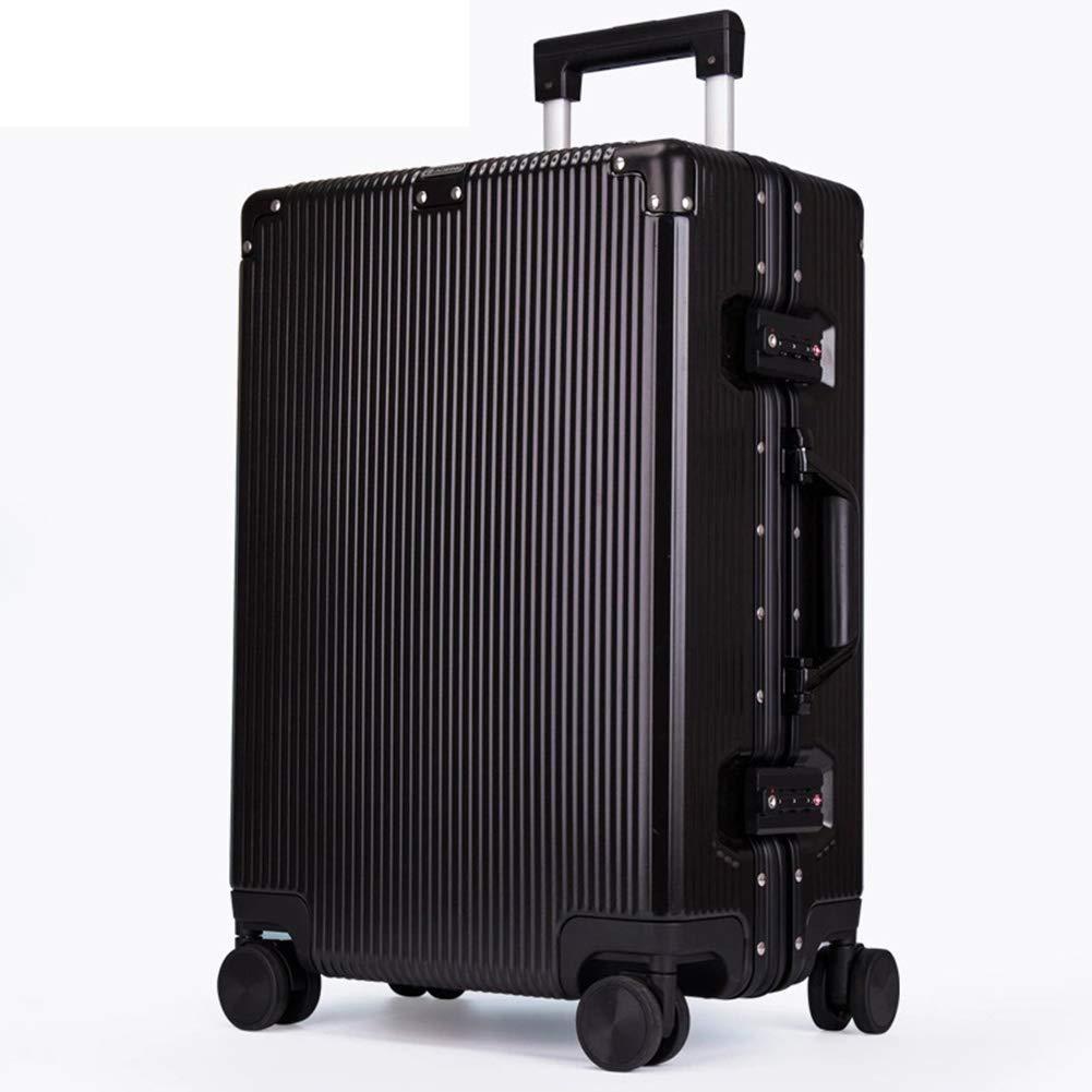 トローリーケース、スタイリッシュなパーソナリティ360°ミュートキャスタースーツケース B07SGWJZ2M Black 40*24*65CM