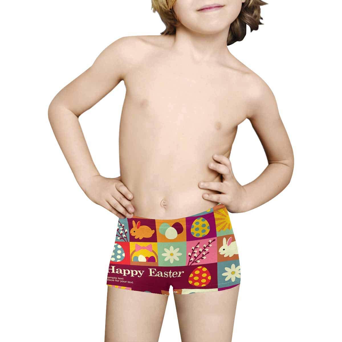 5T-2XL INTERESTPRINT Kids Happy Easter ComfortSoft Printed Boxer Briefs