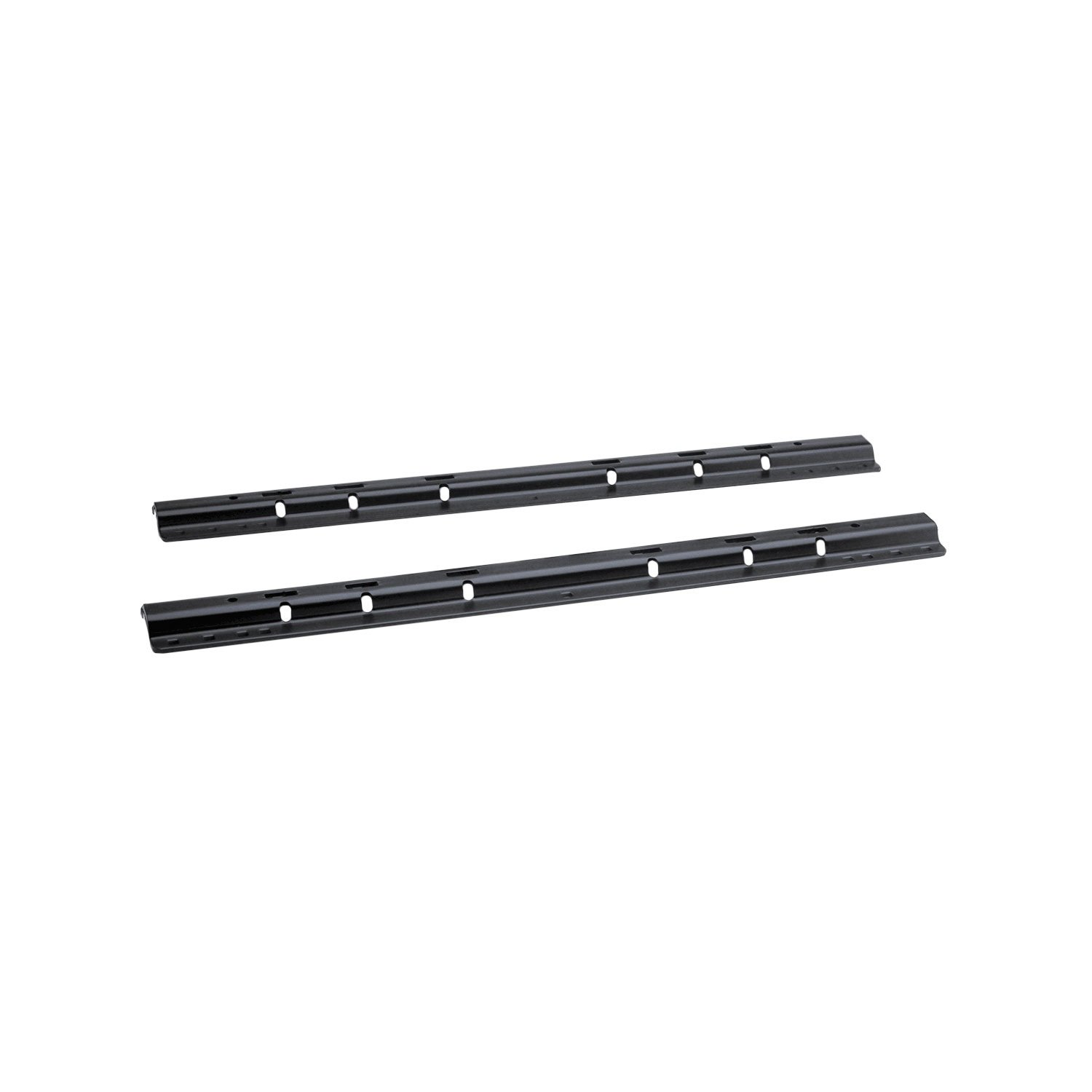 58058 Black Powder Coat 38 lbs. Fifth Wheel Mounting Rails with 10-Bolt Design by Pro Series