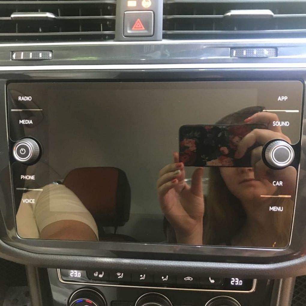 Lorsoul Sostituzione per T-ROC Schermo 2018 GPS per Auto di Protezione di Navigazione di Copertura in Vetro temperato Protezione della Pellicola