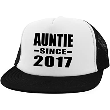 322071752e Amazon.com  Auntie Since 2017 - Trucker Hat