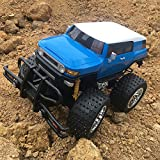 remote control toyota - ElementDigital RC Truck Remote Control Car Toyota FJ Cruiser SUV 1:10 Remote Controlled Monster Truck Off-road Vehicle Radio Control Toy Kids Christmas Gift 1/10 Model Blue