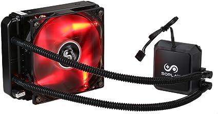 Docooler SOPLAY - Sistema de refrigeración líquida para congelador de Agua y refrigeración de CPU (Carga hidráulica, 120 mm, Regulable, PWM, Ventilador con luz LED ...