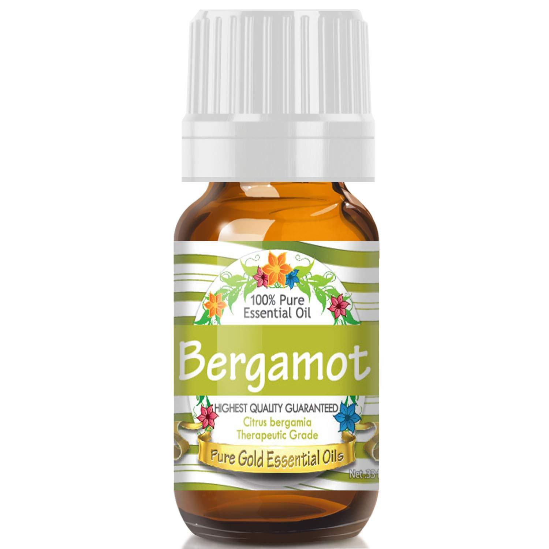 Pure Gold Bergamot Essential Oil, 100% Natural & Undiluted, 10ml