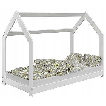 Bett für Kinder Kinderbett Holzbett Kinderhaus Haus Kiefernholz ...