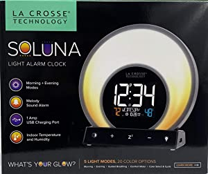 Soluna La Crosse Technology Light Alarm Clock- 5 Light Modes