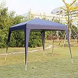 Cheap Kinbor 10'x10' Canopy Wedding Party Tents Heavy Duty Outdoor Gazebo Patio White/Blue (Blue)