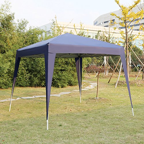 Kinbor 10'x10' Canopy Wedding Party Tents Heavy Duty Outdoor Gazebo Patio White/Blue (Blue)