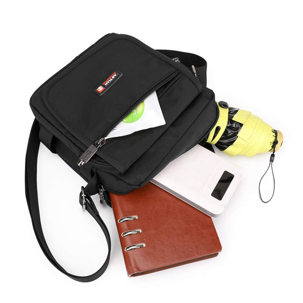 QIAN Herren Umhängetasche Business-Handtasche Business-Handtasche Business-Handtasche Oxford Umhängetasche - mit Becherhalter - Geeignet für Arbeit, Geschäftsreisen, Freizeit B07NRV7WP4 Schultertaschen b8d7d8