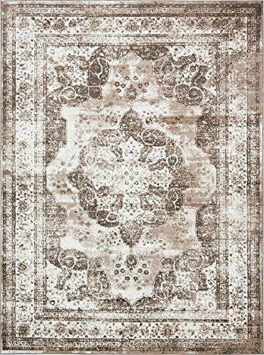 Unique Loom 3134095 Sofia Collection Traditional Vintage Beige Area Rug, 9
