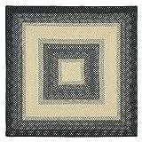 Cheap Safavieh Transitional Rug – Braided Polypropylene -Black/Grey Black/Grey/Transitional/6'LX6'W/Square