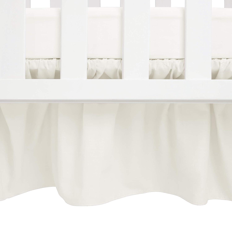 B000IG6IFM Babydoll Round Crib Solid Dust Ruffles, Ecru 61GcO75PtBL