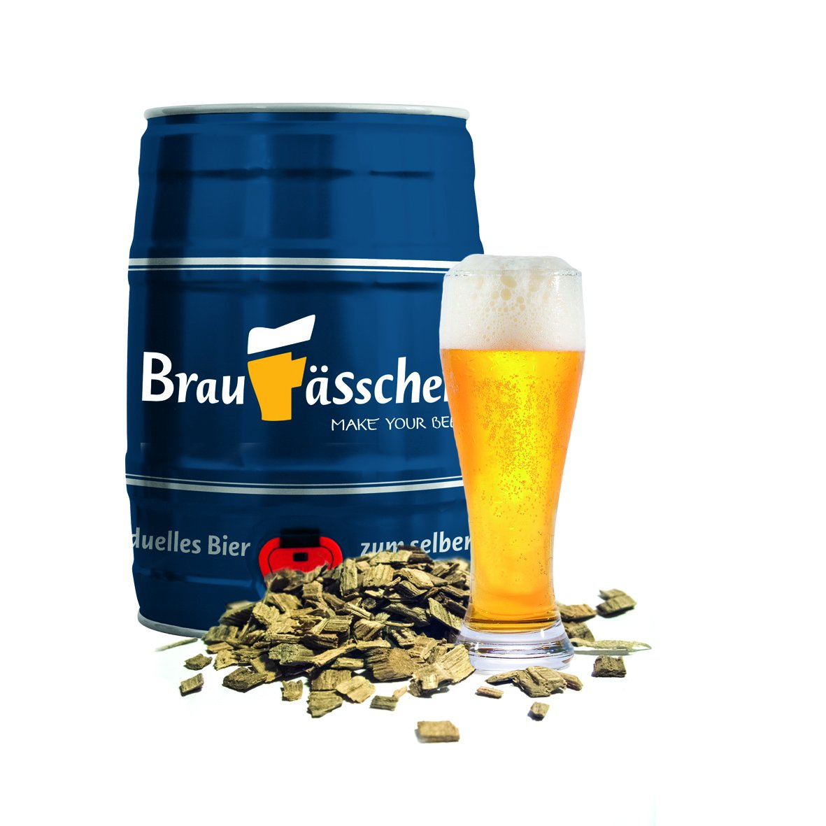 Bierbrauset zum selber Brauen – Weißbier mit Bourbonholz im 5 L Bierfass Customized Drinks GmbH