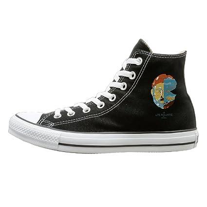 905204b0ee8a3d HoHo The Life Aquatic With Steve Zissou Cool Unisex Black High-tops Canvas  Shoes