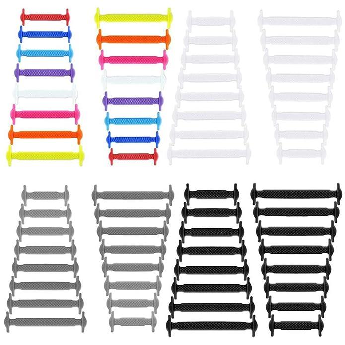 FunFitness Lacci Elastici per Scarpe ☆ Stringhe Elastiche