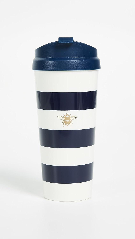 Amazon.com   Kate Spade New York Womenu0027s Insulated Thermal Travel Mug  Tumbler, 16oz, Black Stripe: Coffee Cups U0026 Mugs