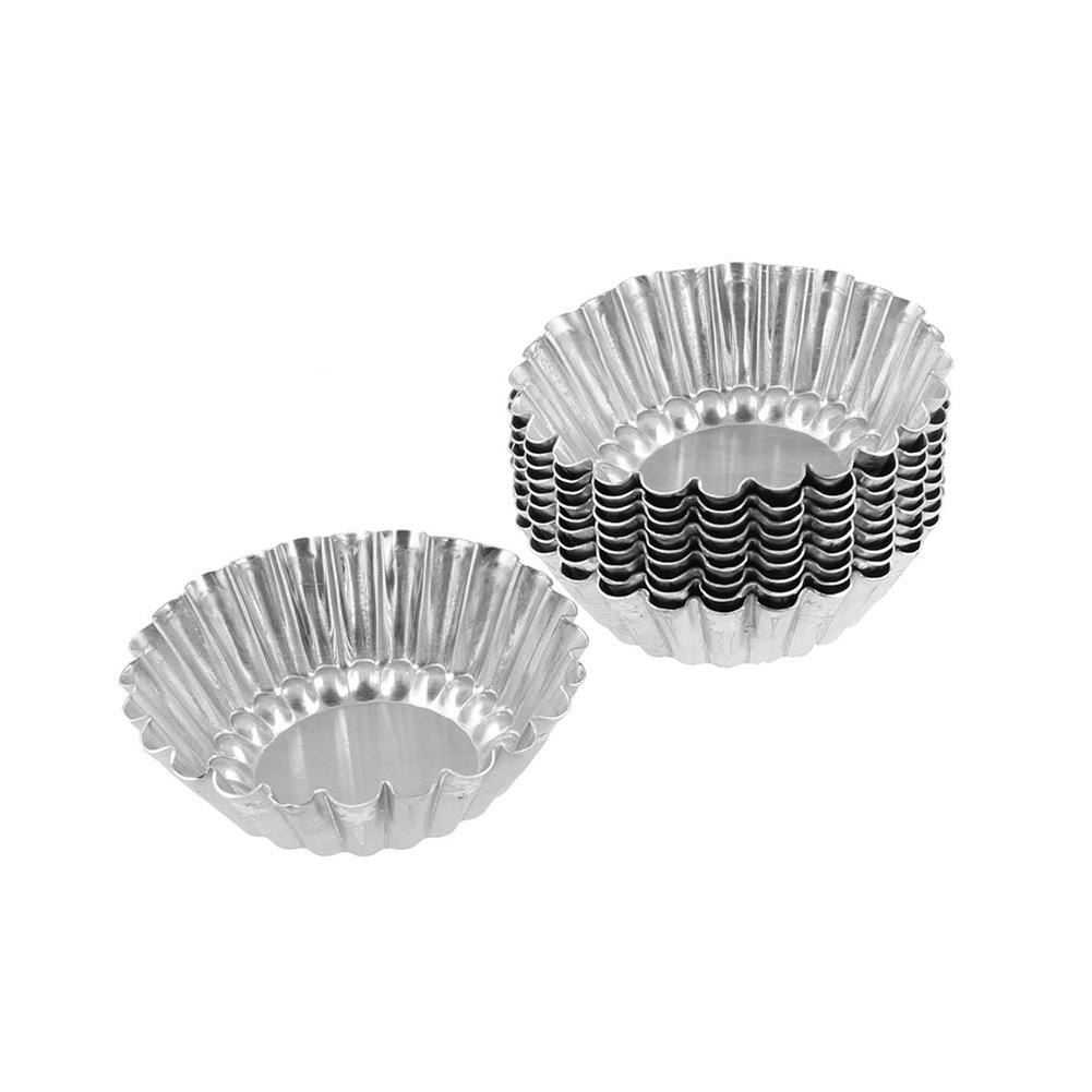 Grosun 50Pcs Egg Tart Aluminum Cupcake Baking Cups Cake Cookie Mold Tin Baking Tool