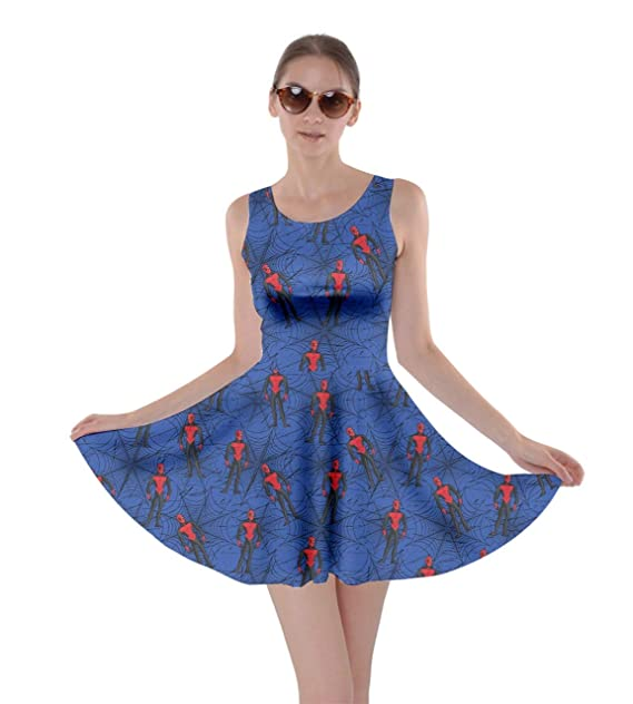 5a06944480879 CowCow Womens Halloween Spider Web Pattern Bats Party Skater Dress ...