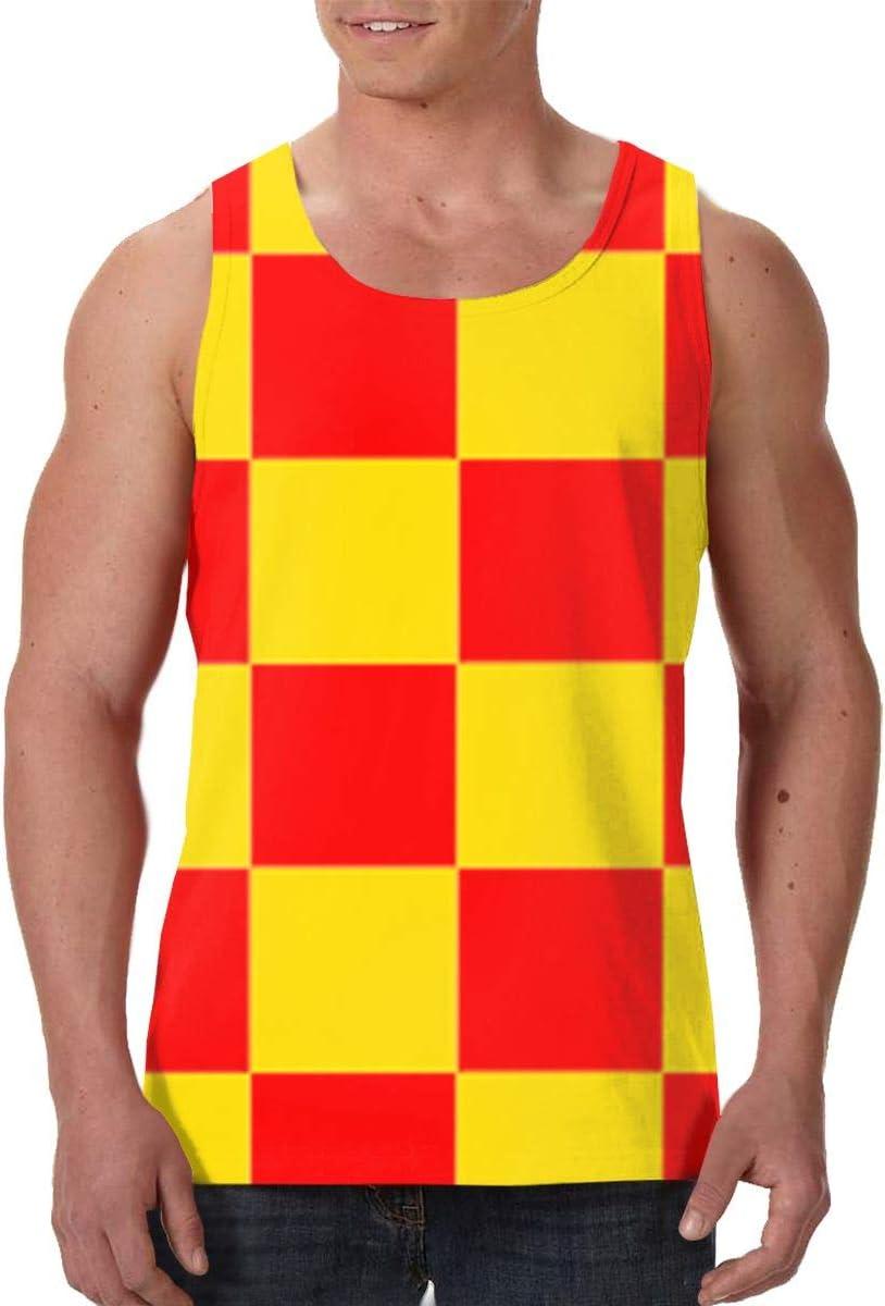 SHARP-Q Buffalo Stripes Men Tank Vest Man Funny Tank Tops