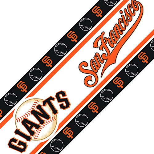 MLB San Francisco Giants Wall Border Self-Stick Baseball Team Logo - Mlb Border Wall