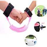Yohoo Kids Safety Leash Anti-Lost Wrist Link Harness Strap Green Safety Wristband 1.5M/2.5M for Baby,Children, Child Rope Leash Walking Hand Belt (1.5M, Pink)
