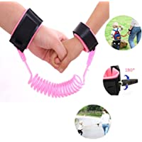Yohoo Kids Safety Leash Anti-Lost Wrist Link Harness Strap Green Safety Wristband 1.5M/2.5M for Baby,Children, Child Rope Leash Walking Hand Belt (2.5M, Pink)