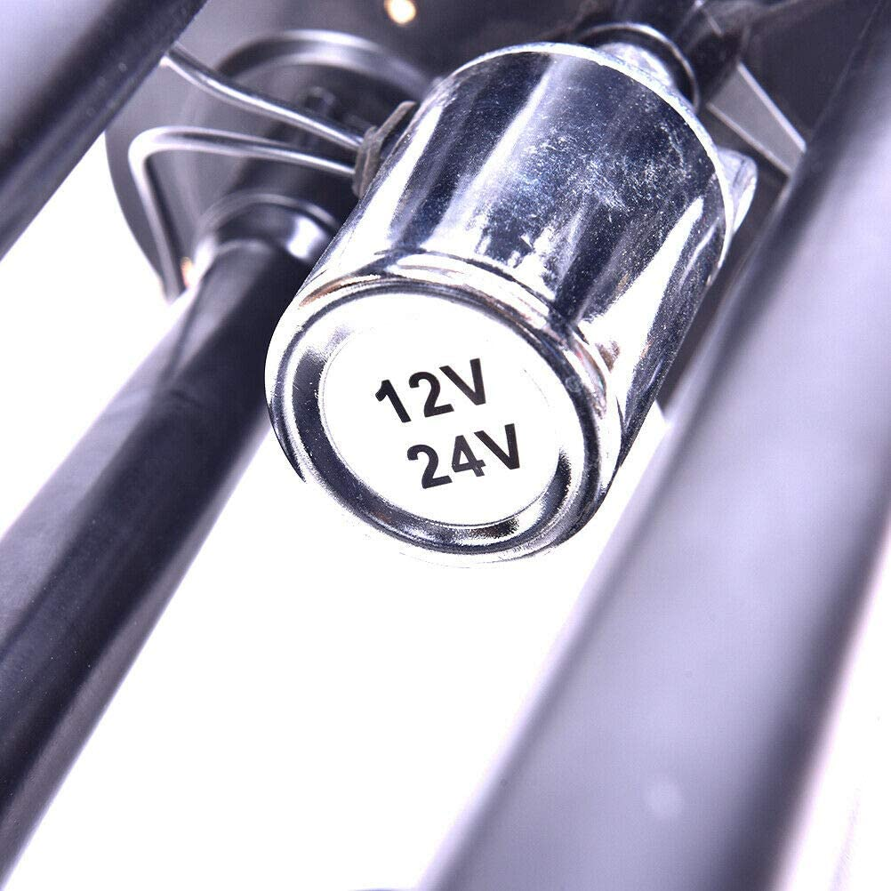 4-Trumpet 150 psi Air System 150dB 3 L Metal 12V Train Air Horn Kit for car Truck 3L, Black