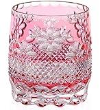 カガミクリスタル ロックグラス(彩花紋) 340cc 江戸切子 伝統工芸士篠崎清一 作 T704-2566CAU