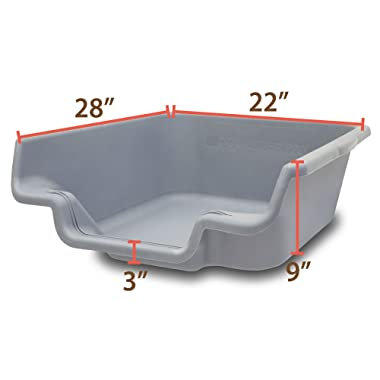 PuppyGoHere Dog Litter Pan Litter Box Training. Training Guide Included 3 Sizes. Choose The Right Size for Your Dog. Great for Senior Cats with Special Needs and Rabbits.USA