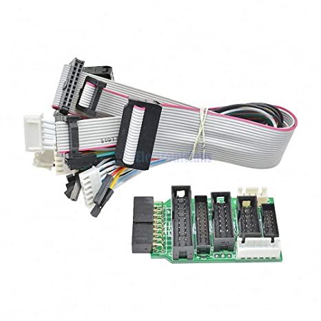 Amazon.com: Emulator V8 JTAG Adapter Converter for J-Link with 8PCS 4 Pin 6 Pin 10 Pin 20 Pin Grey Flat Ribbon Data Cable Dupont Wire: Industrial & Scientific