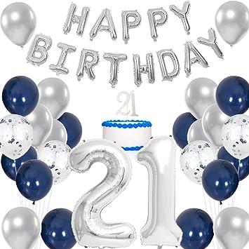 Meuparty Decoraciones de 21 cumpleaños para Hombres ...