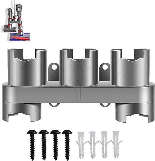 Jingming - Soporte de pared organizador de accesorios para almacenamiento con tornillos compatibles con aspiradora inalámbrica V11 V10 V8 V7 (gris, 1 unidad): Amazon.es: Hogar