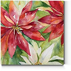 Renditions Gallery Poinsettia Leaves Wall Art, Christmas & Winter Artwork,