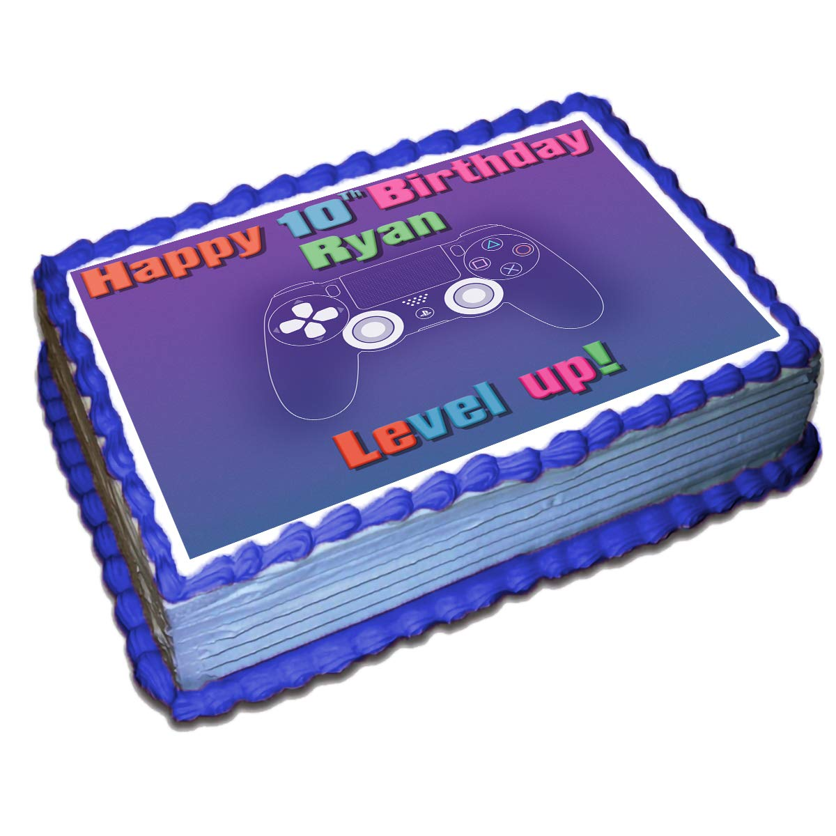 Amazing Gamer Ps4 Personalized Cake Toppers Icing Sugar Paper 1 4 8 5 X Birthday Cards Printable Benkemecafe Filternl