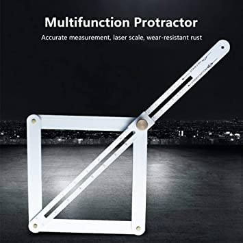 Bevel Corner Protractor Aluminium Alloy Protractor Extended Version Corner Angle Finder for Multi Angle Measurement Tool Bevel for Woodworking Flooring Tile