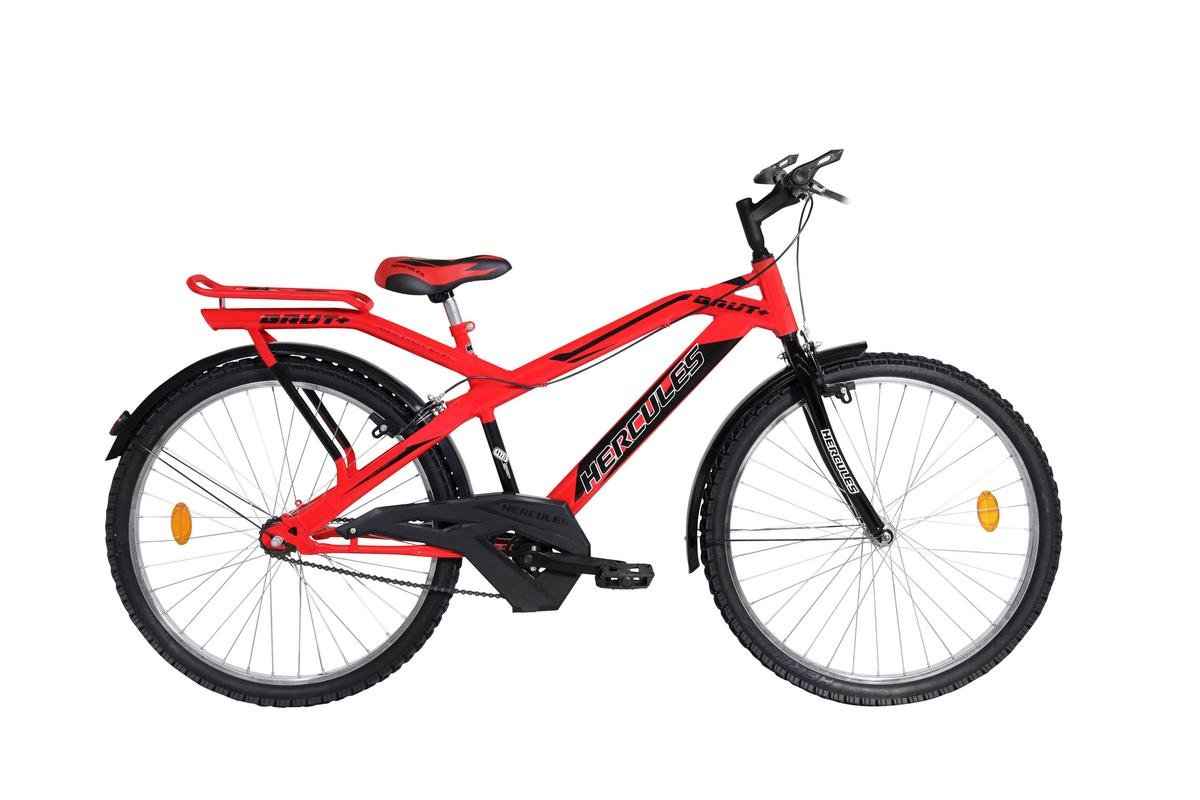 d3fad756fe0 Buy Hercules MTB Brut Plus RF 26T Stylish Sporty Smart Red/Black Steel Bike/ Bicycle for Boys Online at Low Prices in India - Amazon.in