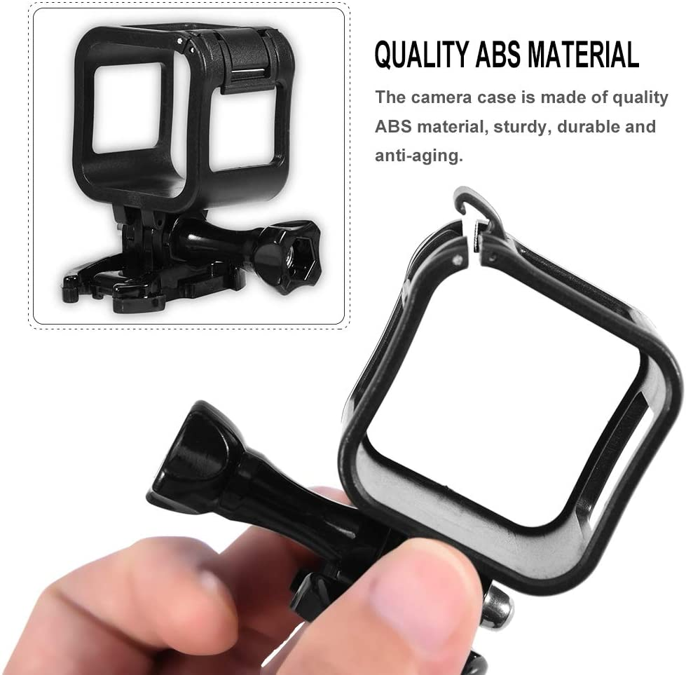 Camera Protective Housing Frame ABS Material Case Cage with Flexible Mount for Gopro Hero 4//5 Session Lazmin Camera Case