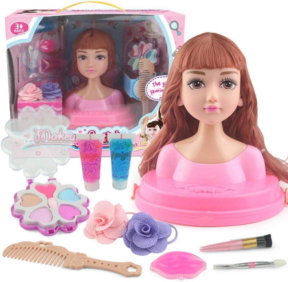 Muñecas de simulación de Maquillaje Maquillar Muñeca de Maquillaje, cabeza peluqueria juguete cabello Peluquería Maniquí Muñeca Cabeza de peinado, Niñas Juguetes Estuche,y Accesorios de Peinado: Amazon.es: Hogar