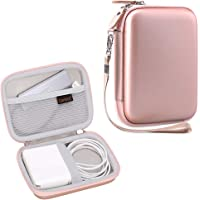 Canboc Storage Carrying Case for MacBook Air Pro Charger MagSafe/MagSafe 2 USB-C Power Adapter, USB C Hub, Apple Pencil, AirPods, Charging Cable, Electronic Accessories Travel Organizer, Rose Gold