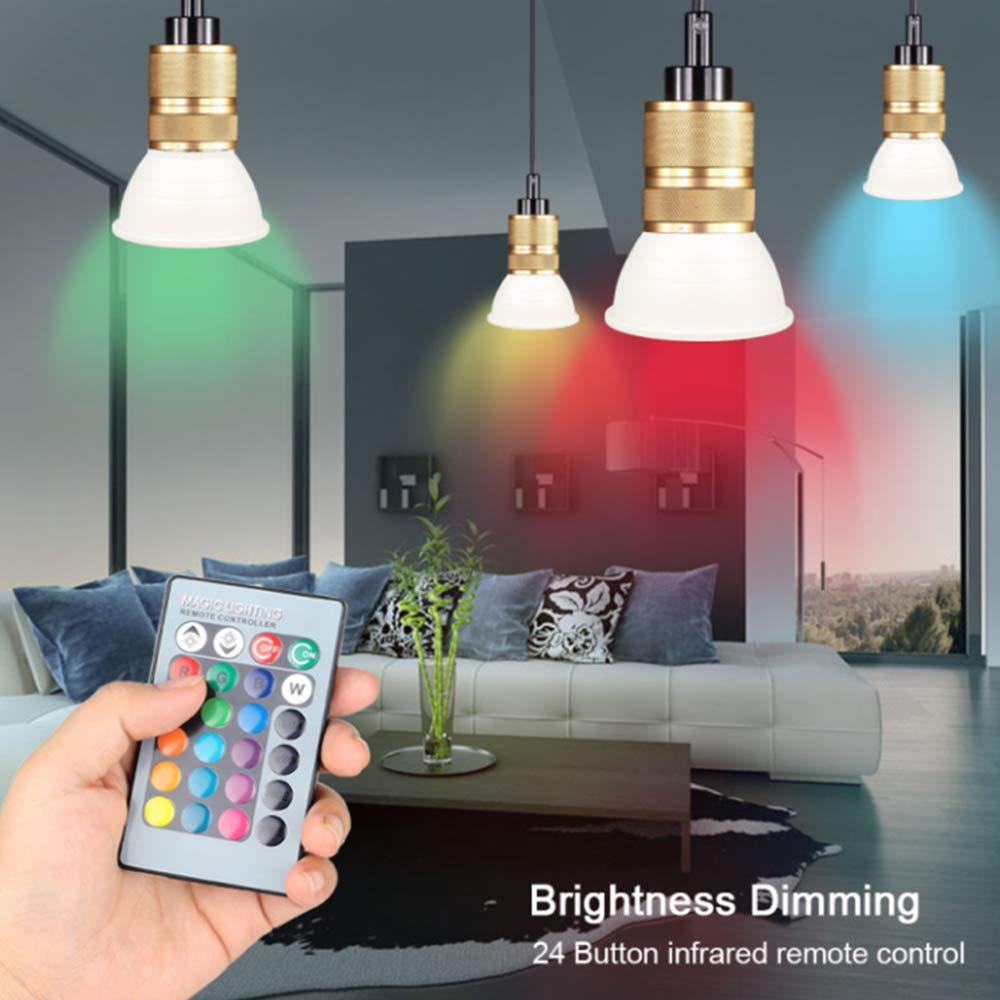 BEAUTOP E27 RGB Ampoule /à Changement de Couleur avec t/él/écommande Colorful//10w 10 W lumi/ères intelligentes avec 16 Couleurs pour d/écoration de Maison ABS