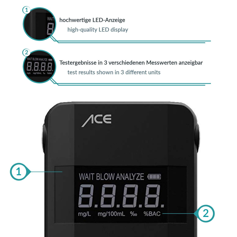 ACE A Alcohol/ímetro para Uso Personal o Industrial Tester Alcohol Profesional