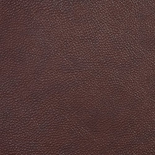 Briarwood Brown Plain Decorative Automotive Light Animal Hide Texture Vinyl Upholstery Fabric by the yard (Briarwood Sofa)