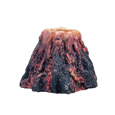 AOLVO Acuario Volcano, Acuario Volcano Bubbler, pecera Tank Acuario Volcán Bubble Maker Air Bubbler