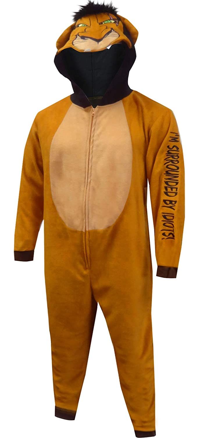Amazon.com: Disney Menu0027s Lion King Scar The Villain Onesie Pajama: Clothing
