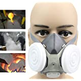 DORLIONA Anti Dust Respirator Gas Safety Half Face Mask Dual Filter Chemical Spray Painting Tool